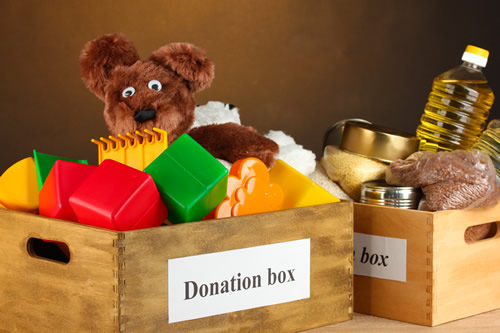 A donation box for charity