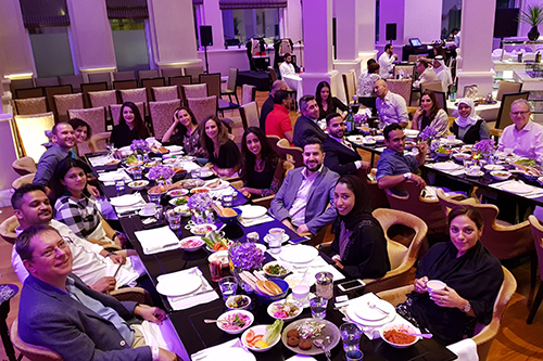 Members of the MENA Alumni Chapter reconnected over a Suhoor meal
