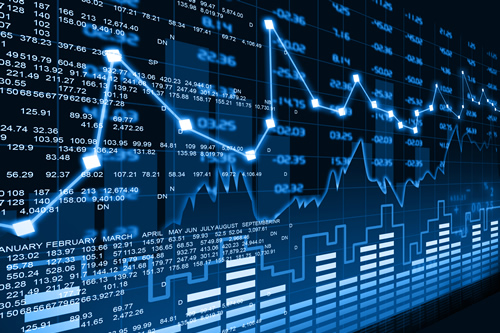 Illuminated Stock market graphic