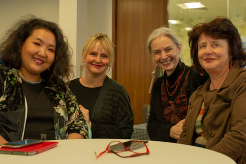 Dr Sara Jones and Dr Amanda Brown are joined by two Creative Spark project partners from Kyrgyzstan during their recent visit to London.