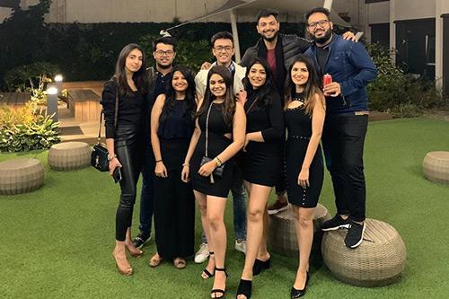Anushi Chadha with friends