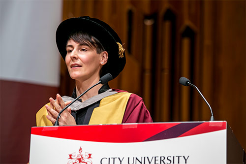 Honorary graduate Dr Sarah Wood of Unruly Media