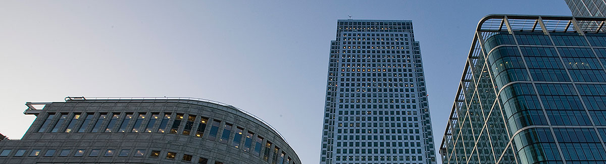 View of a skyscraper from the ground