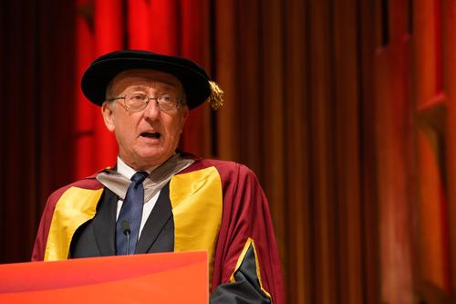 Paul Embrechts at City, University of Lonodn, Cass Business School graduation 2017 as honorary graduate.
