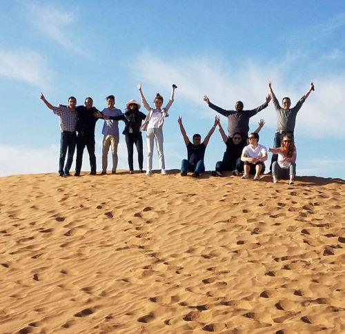 MBA students on a desert safari in Dubai