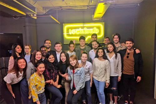 MSc Entrepreneurship Class visit to Tech Hub, the global community for tech entrepreneurs and startups (May 2018)