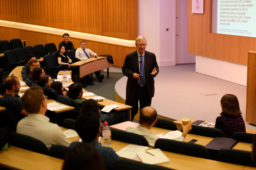 Tom Peters speaking at the MBA Masterclass