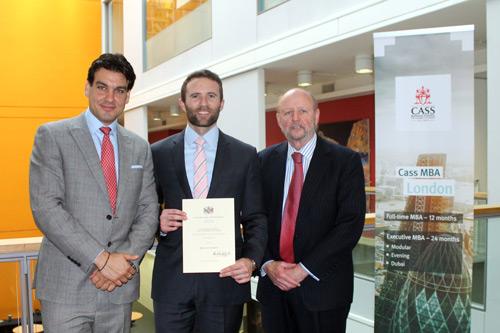 Omiros Sarikas, Douglas Markey (WCIB prize winner) and Thomas Newman
