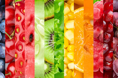 Graphic displaying lots of fruit