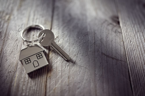 House keys with home key ring