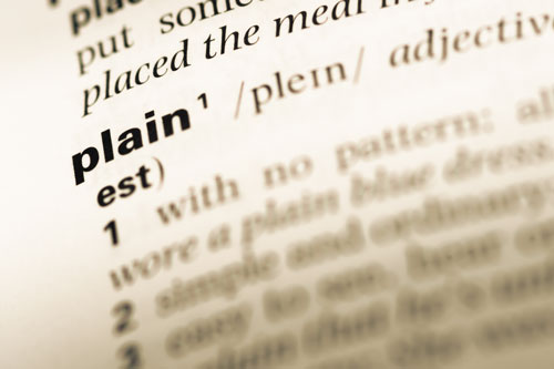 Definition of 'plain' on the page of a dictionary