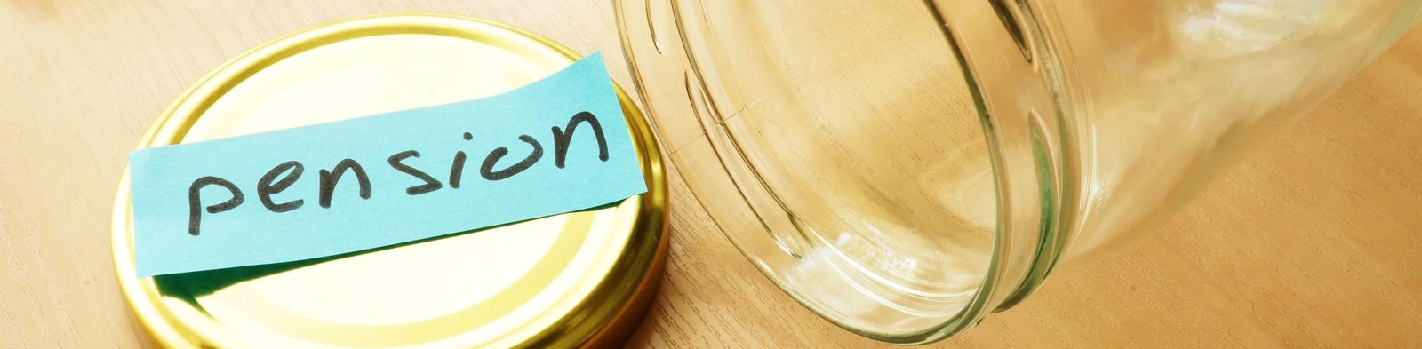 Empty pension jar