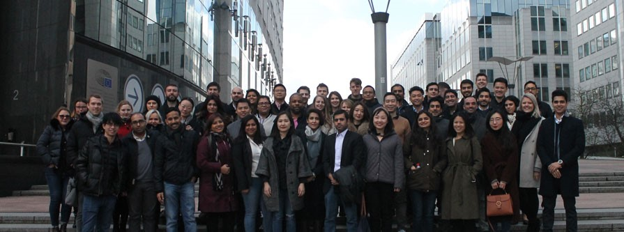 MBA students in Brussels