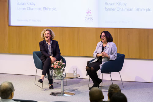 Susan Kilsby and Marianne Lewis at a Cass event