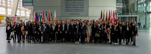 MSc Finance students on a trip to the European Central Bank
