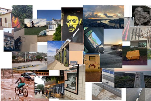 Collage of images from this year's student dérive