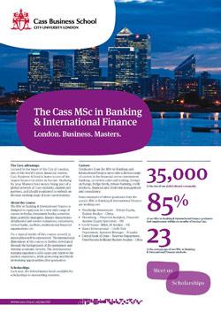Msc Banking Amp International Finance Masters Banking