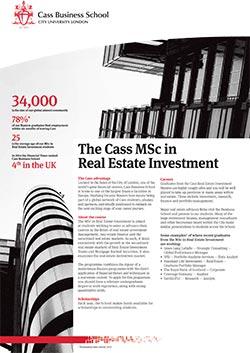 Real Estate Investment factsheet