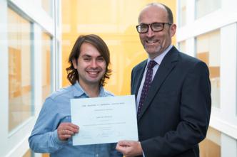 Andreas Villegas with Professor Steven Haberman