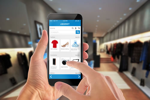 Shopping by mobile phone