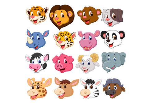 Cartoon animal mascots