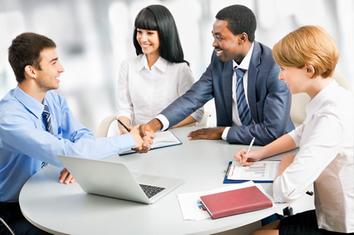 A meeting between confident young people