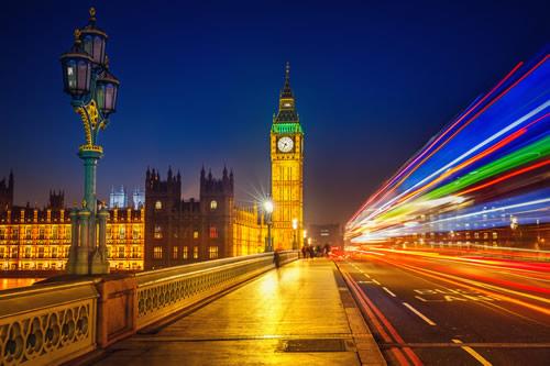 Westminster Bridge at night