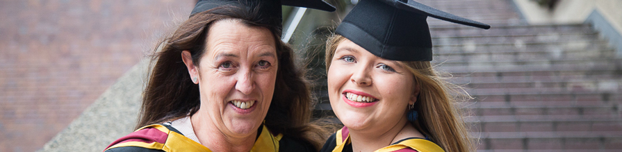 Mother and daughter graduating