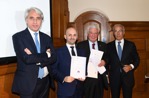 Dr Paolo Aversa of Cass with dignitaries from the Italian Chamber of Commerce