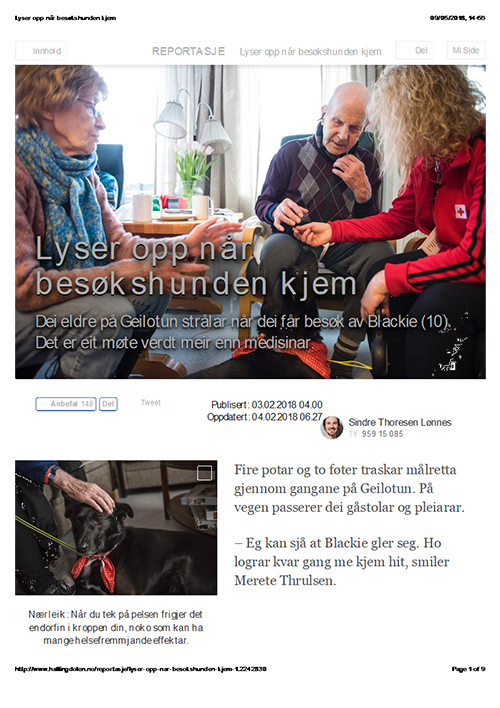 Norwegian newspaper article written with INJECT's digital creativity support