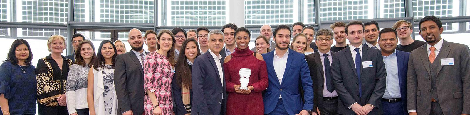 Mayors Entrepreneur. Shortlisters, winners and Sadiq Khan, Mayor of London