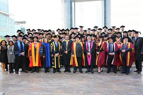 Graduating cohort of the Cass Dubai EMBA 2016