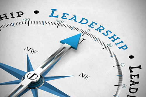 Compass arrow pointing to Leadership