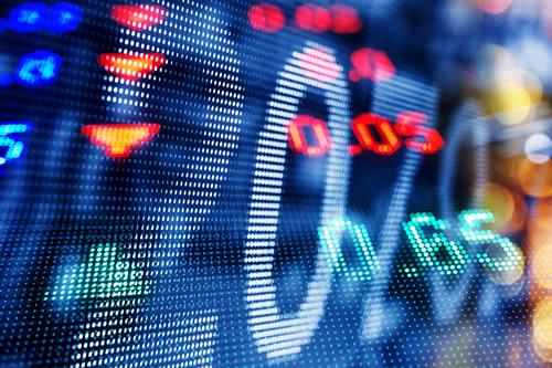 Digital stock market figures