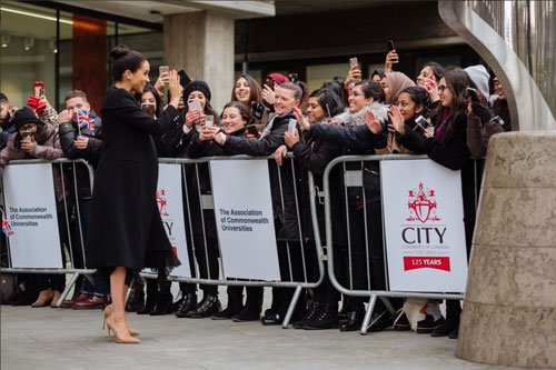 Meghan Markle with City students thumbnail