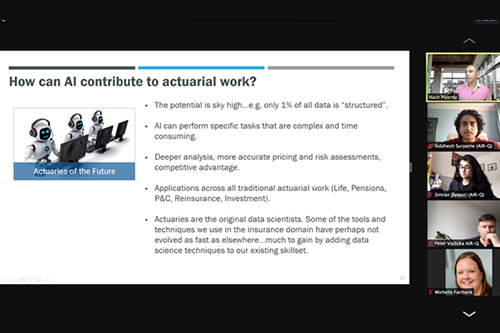 Online meeting: AI in Actuarial work
