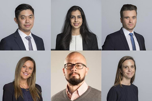 The six MBA students who competed in a Venture Capital competition