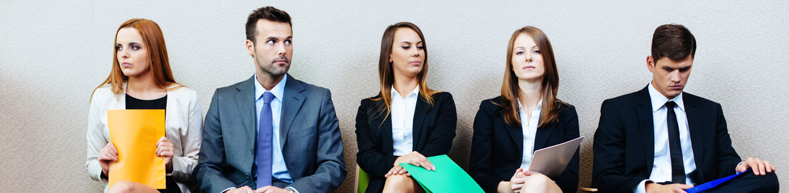 Applicants wait for interview