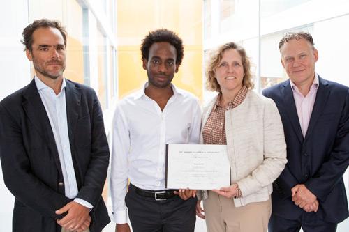 Cass PhD student Munir Hiaru with his Dimitris N. Chorafas Foundation Award