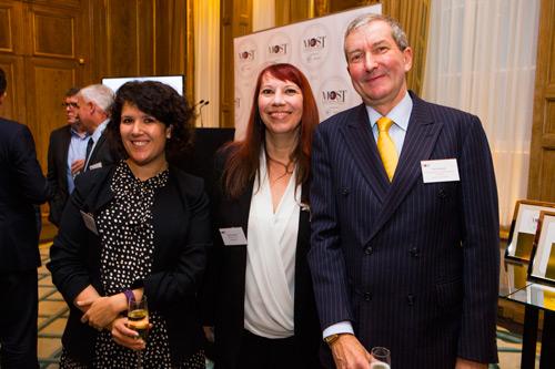 (L-R) Katie Jacobs, Siân Harrington and Chris Roebuckat the HR Magazine Awards Credit Julian Dodd
