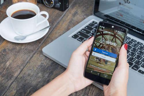 Airbnb app on phone
