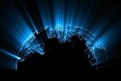 A glowing world