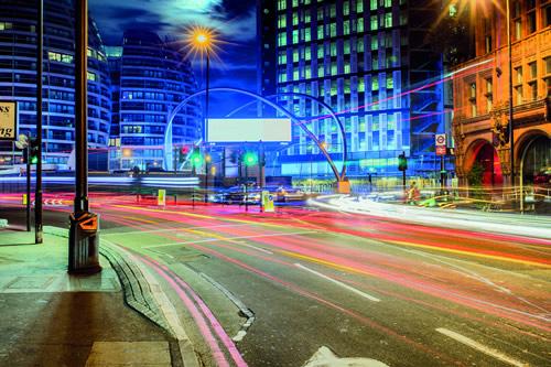 London Tech City at night