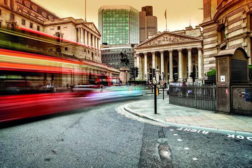 Finance area in City of London