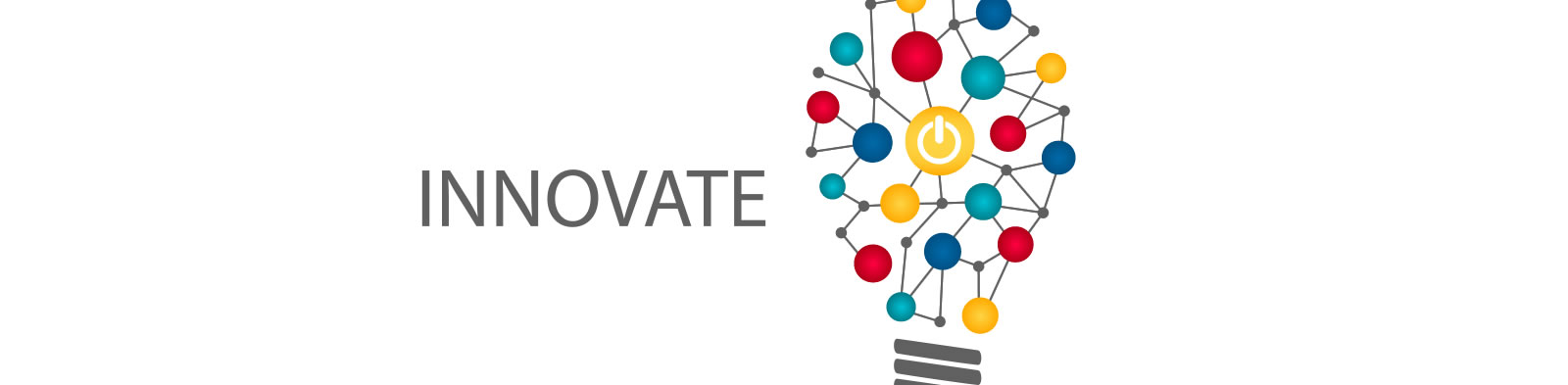 A graphic depicting ideas and innovation