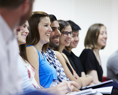 MBA students in lecture theatre