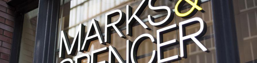 Marks & Spencer's sign
