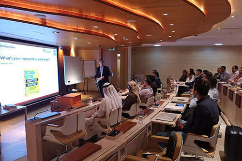 Dr Paul Raspin delivering a masterclass in Dubai
