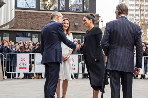 The Duchess of Sussex meets Sir Paul