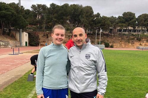 Karolina Batistova with Chapi Ferrer